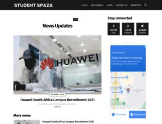 studentspaza.co.za screenshot
