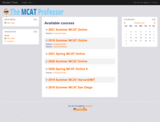studenttools.themcatprofessor.com screenshot