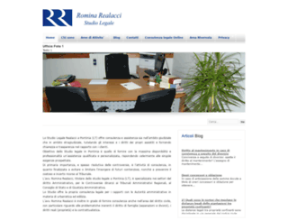 studiolegalerealacci.com screenshot