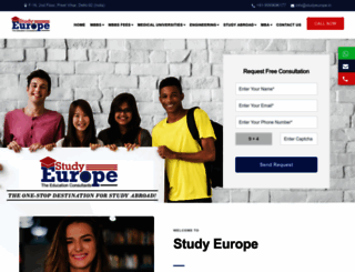 studyeurope.in screenshot