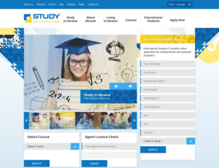 studyinukraine.com screenshot