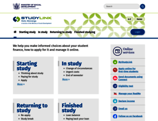 studylink.govt.nz screenshot