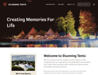 stunningtents.co.uk screenshot