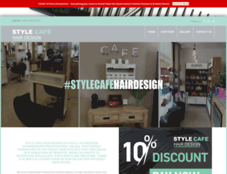 stylecafehairdesign.com screenshot