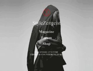 stylezeitgeist.com screenshot