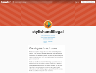 stylishandillegal.tumblr.com screenshot