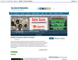 suaauladematematica.blogspot.com.br screenshot