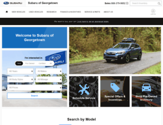 subarugeorgetown.com screenshot