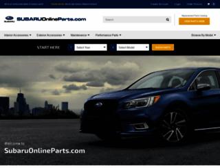 subaruonlineparts.com screenshot