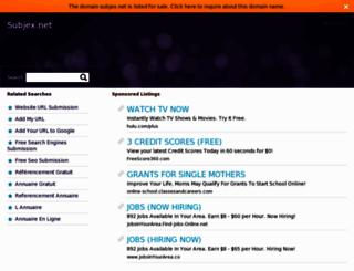 subjex.net screenshot