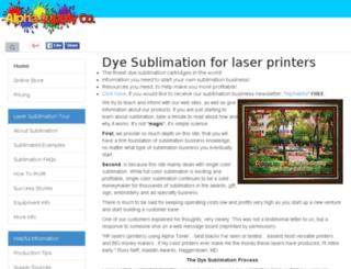 sublimationcartridge.alphasupply.com screenshot