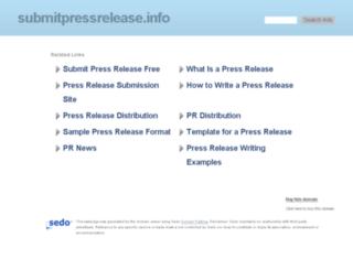 submitpressrelease.info screenshot