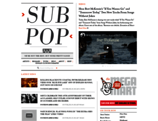 subpop.com screenshot
