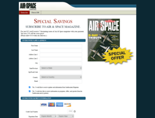 subscribe.airspacemag.com screenshot