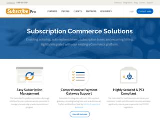 subscribepro.com screenshot