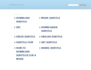 subtitlesearch.org screenshot