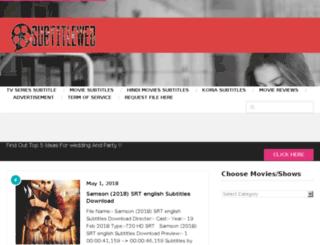 subtitleweb.com screenshot