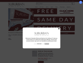 suburbanwines.com screenshot