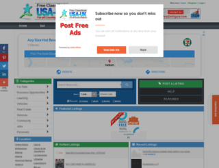 sudan.usauk-classifieds.com screenshot