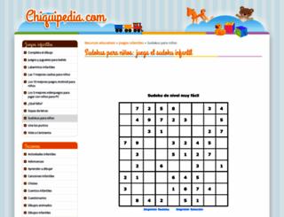 sudoku.chiquipedia.com screenshot