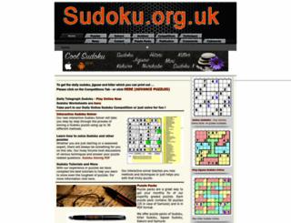 sudoku.org.uk screenshot
