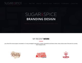 sugarandspicegraphicdesign.com screenshot