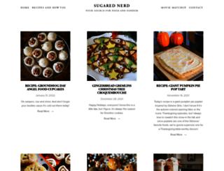 sugarednerd.com screenshot