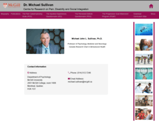sullivan-painresearch.mcgill.ca screenshot
