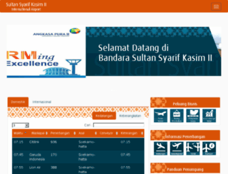 sultansyarifkasim2-airport.co.id screenshot