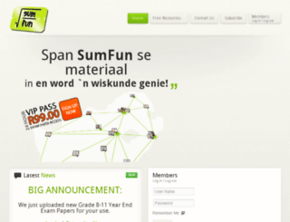 sumfun.co.za screenshot