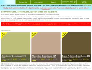 summergreenhouses.co.uk screenshot
