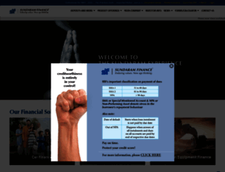sundaramfinance.in screenshot
