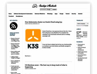 sundeepmachado.com screenshot