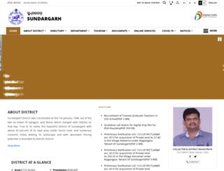 sundergarh.nic.in screenshot