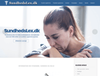 sundhedslex.dk screenshot