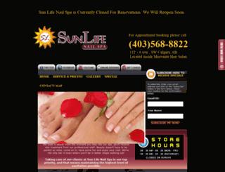 sunlifenailstudio.com screenshot