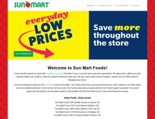 sunmartfoods.com screenshot