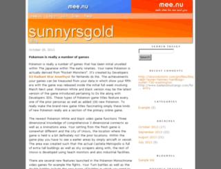 sunnyrsgold.mee.nu screenshot
