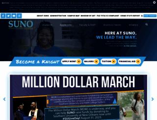 suno.edu screenshot