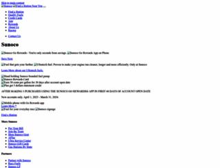 sunoco.com screenshot