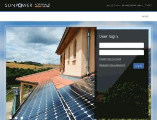 sunpower.admiralsbank.com screenshot