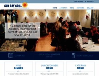 sunraygrill.com screenshot