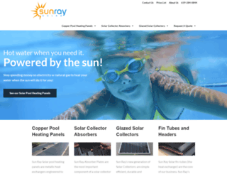 sunraysolar.com screenshot
