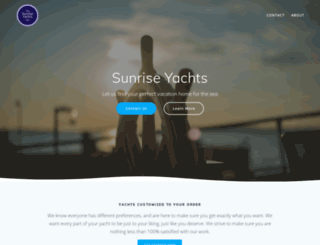 sunriseyachts.com screenshot