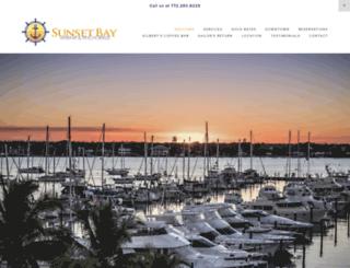 sunsetbaymarinaandanchorage.com screenshot