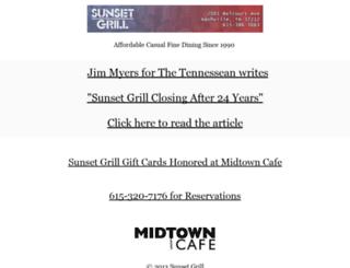 sunsetgrill.com screenshot