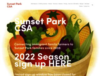 sunsetparkcsa.org screenshot