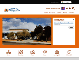 sunsetviewes-aps-nm.schoolloop.com screenshot