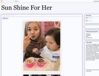 sunshineforher.blogspot.com screenshot