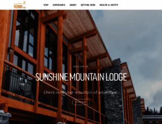 sunshinemountainlodge.com screenshot